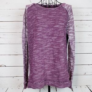 Champion Long Sleeve  Purple Heather Top